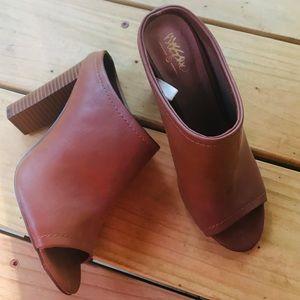 Missimo brown open toe high heels